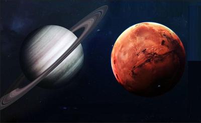 Конъюнкция Марса и Сатурна